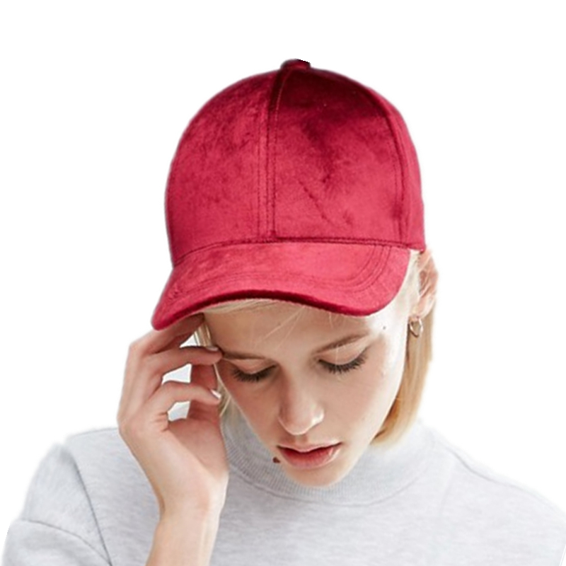 New Women Velvet Baseball Cap Mens Casquette Bone cap Fashion Snapback Sport cap Hip Hop Flat Hat Women Gorras