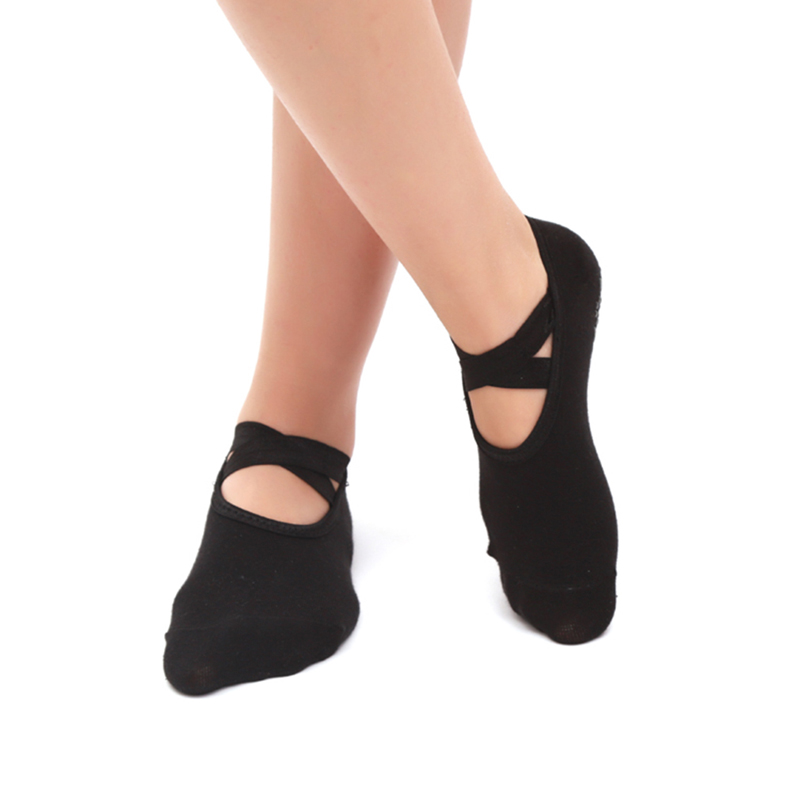 Anti Slip Bandage Sports Yoga Socks Ladies Ventilation Pilates Ballet Socks Dance Sock Slippers