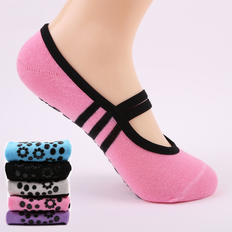 Anti Slip Bandage Cotton Sports Yoga Socks Ladies Ventilation Pilates Ballet Socks