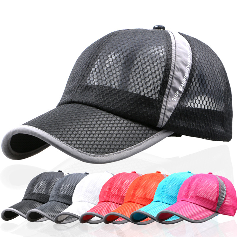 Summer breathable net cap outdoor sunshade sports leisure lady custom full mesh baseball cap
