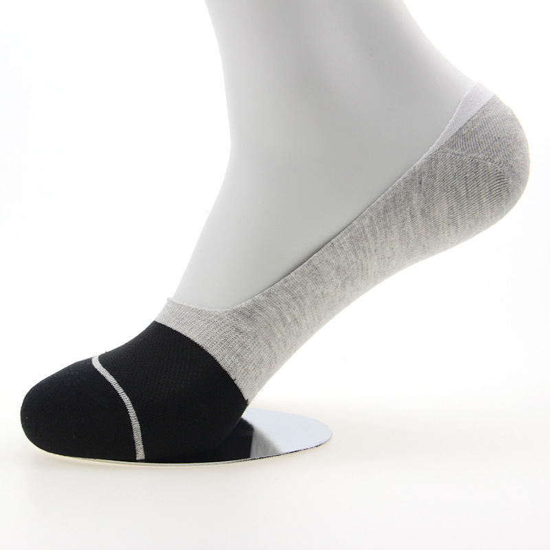 Summer 100% cotton invisible thin socks for men