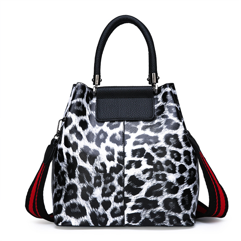 New design women Leopard PU handbag shoulder bags