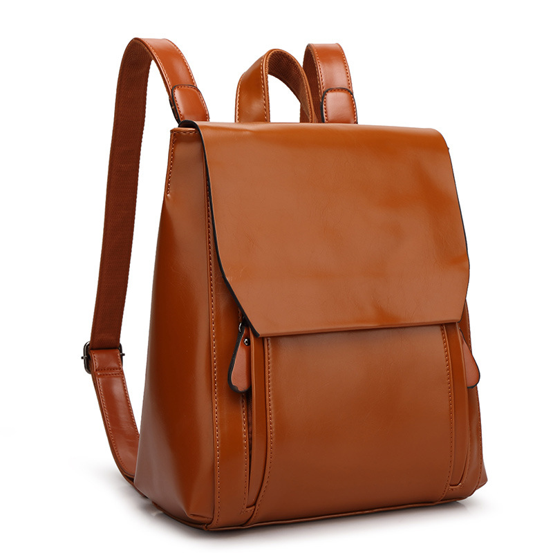 women Student leather backpack bags