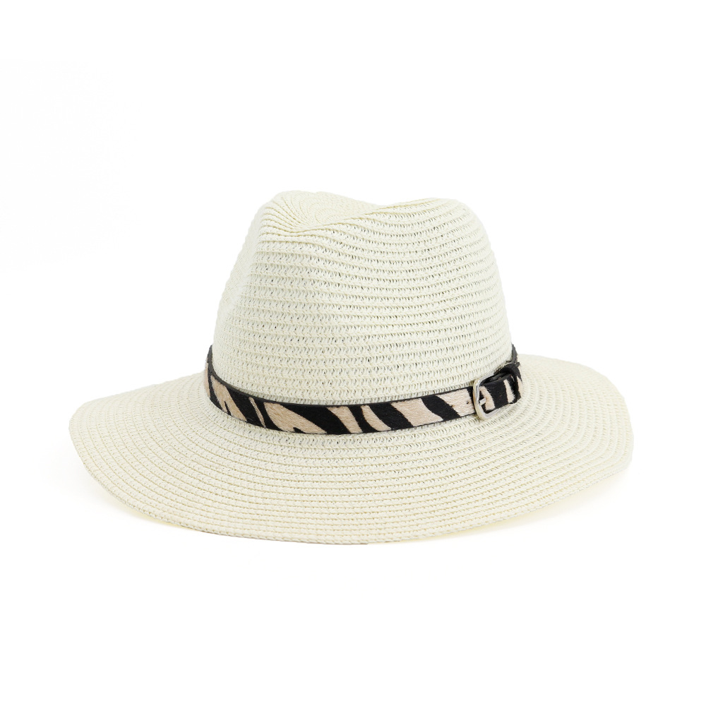 Wish Amazon Hot Selling straw hat outdoor Beach Hat sunscreen fashion jazz hat straw hat