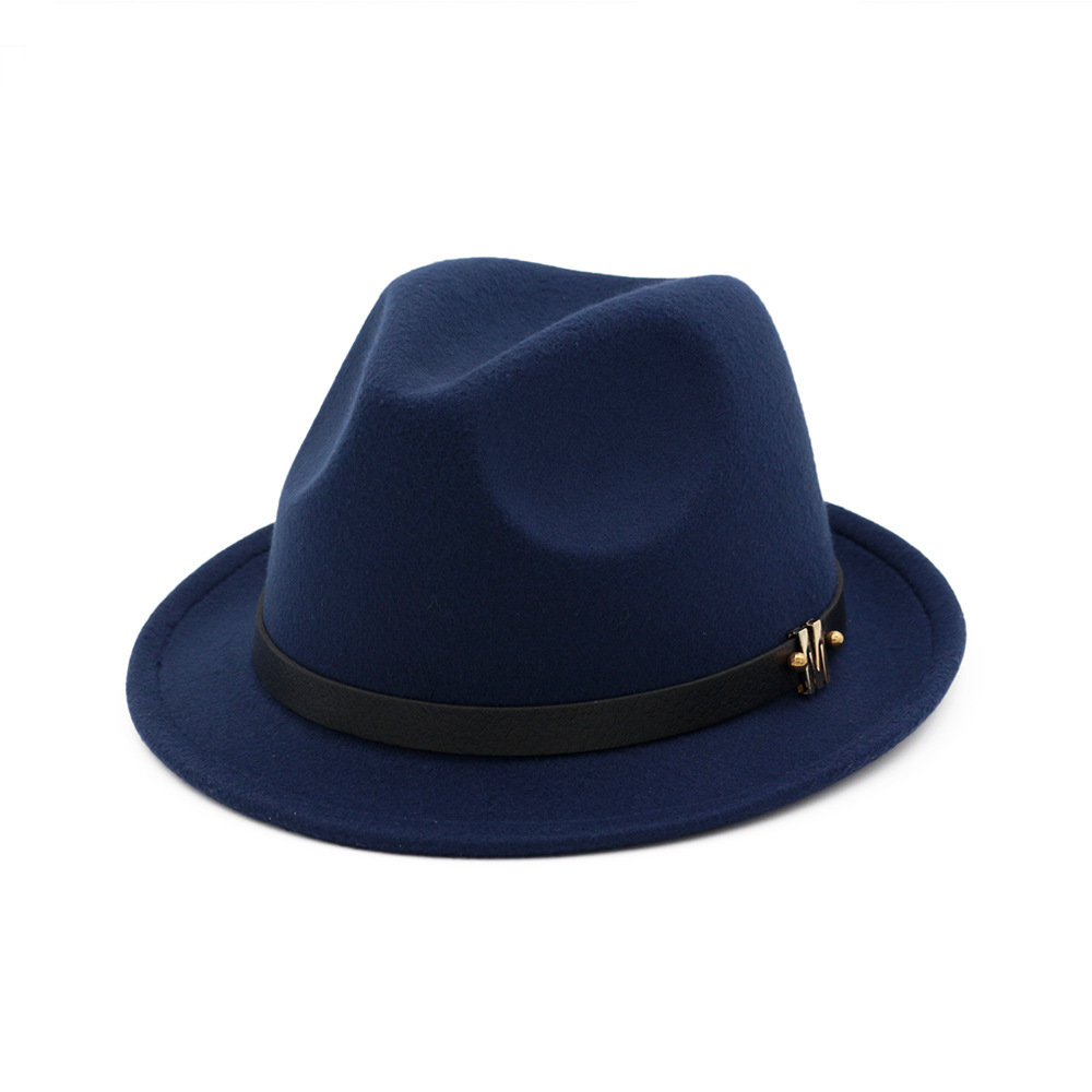 British Classic Wool Hat Autumn and Winter New Men's and Women's Jazz Hat Temperament Curly Wool fedora Hat